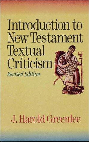 Download Introduction to New Testament textual criticism
