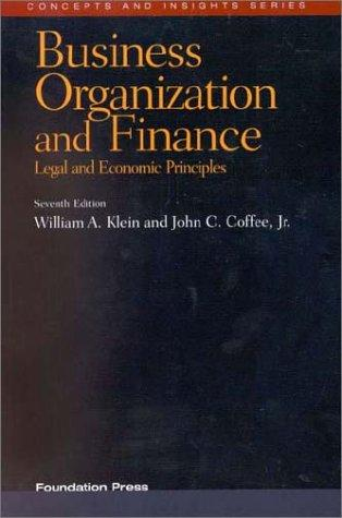 Download Business Organization and Finance