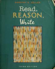 Cover of: Read, reason, write | Dorothy U. Seyler