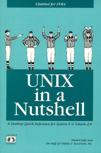UNIX in a nutshell by Daniel Gilly